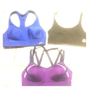 Lot of 3 size L sports bras